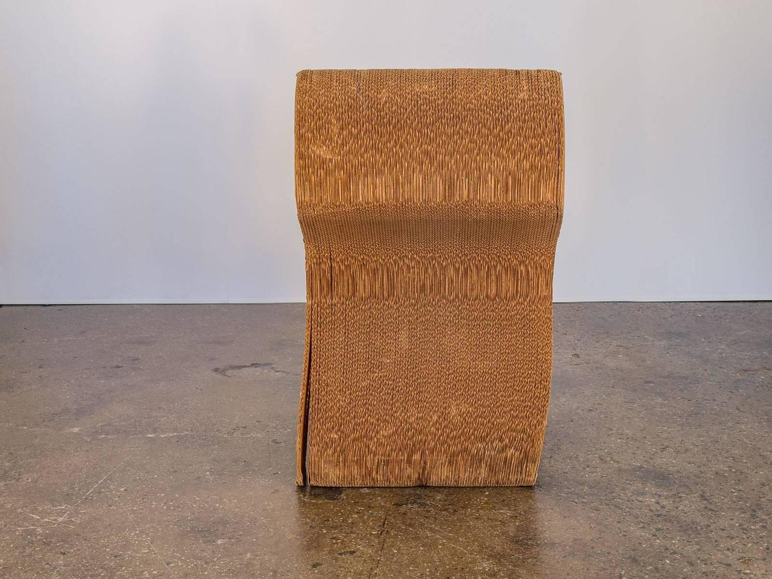 frank gehry cardboard chair covers and linens lebanon church road vintage corrugated for sale at 1stdibs