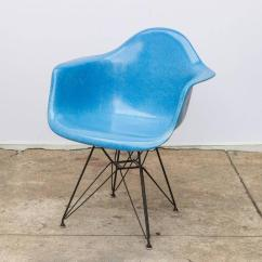 Eames Arm Chair Carpet Protector Set Of Four Blue Molded Fiberglass Armchairs At 1stdibs Classic Charles And Ray Armchair In On The Black