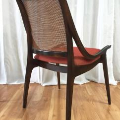 Cane Back Chairs For Sale Lawn At Home Depot Four Walnut Dining By Richard Thompson