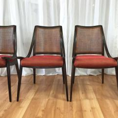 Cane Back Chairs For Sale Target Armless Chair Four Walnut Dining By Richard Thompson