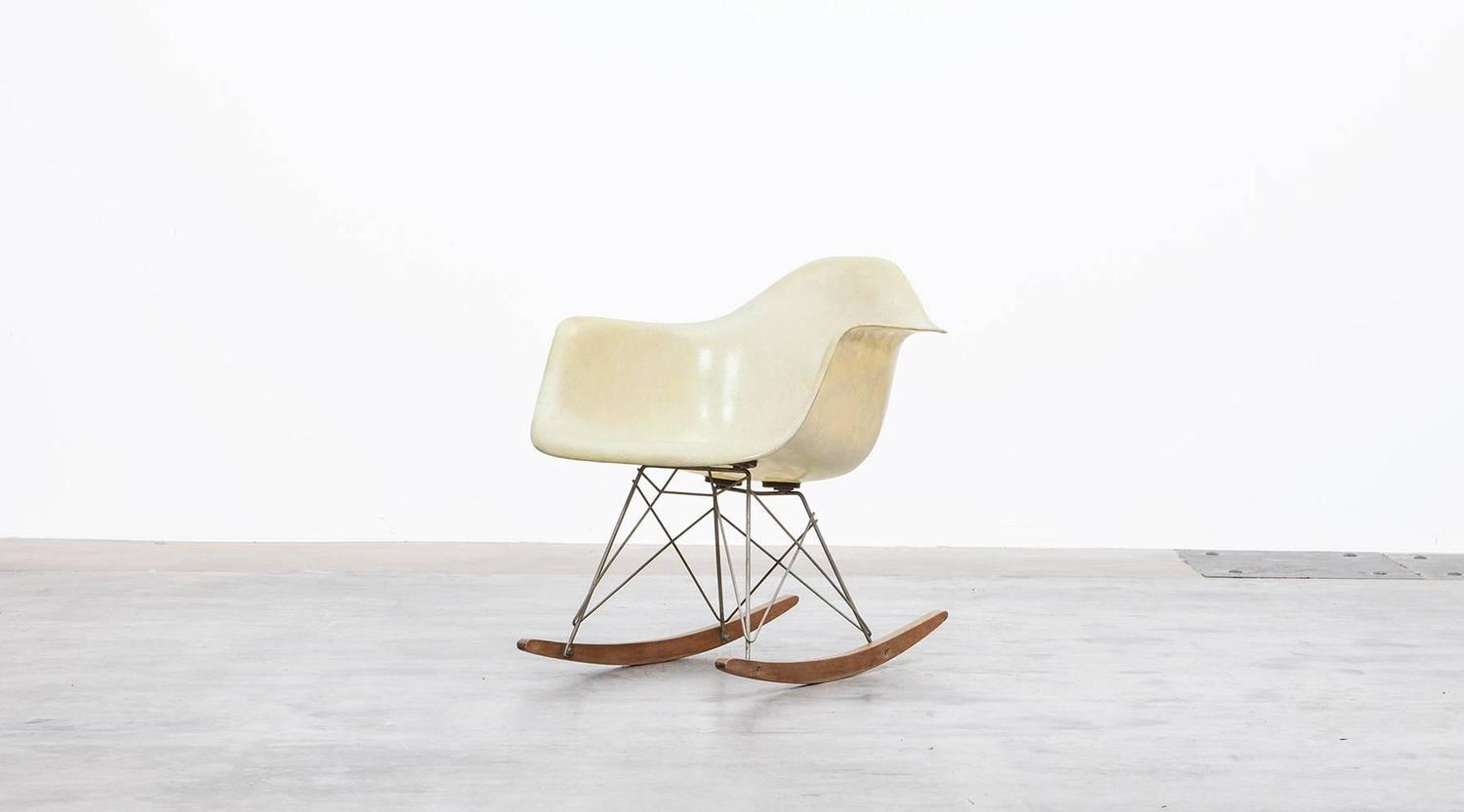 metal rocking chair runners bungee chairs at target charles and ray eames rar for sale 1stdibs