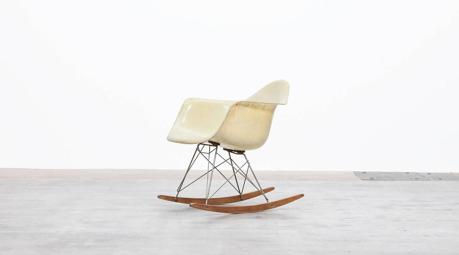 metal rocking chair runners akracing gaming review charles and ray eames rar for sale at 1stdibs
