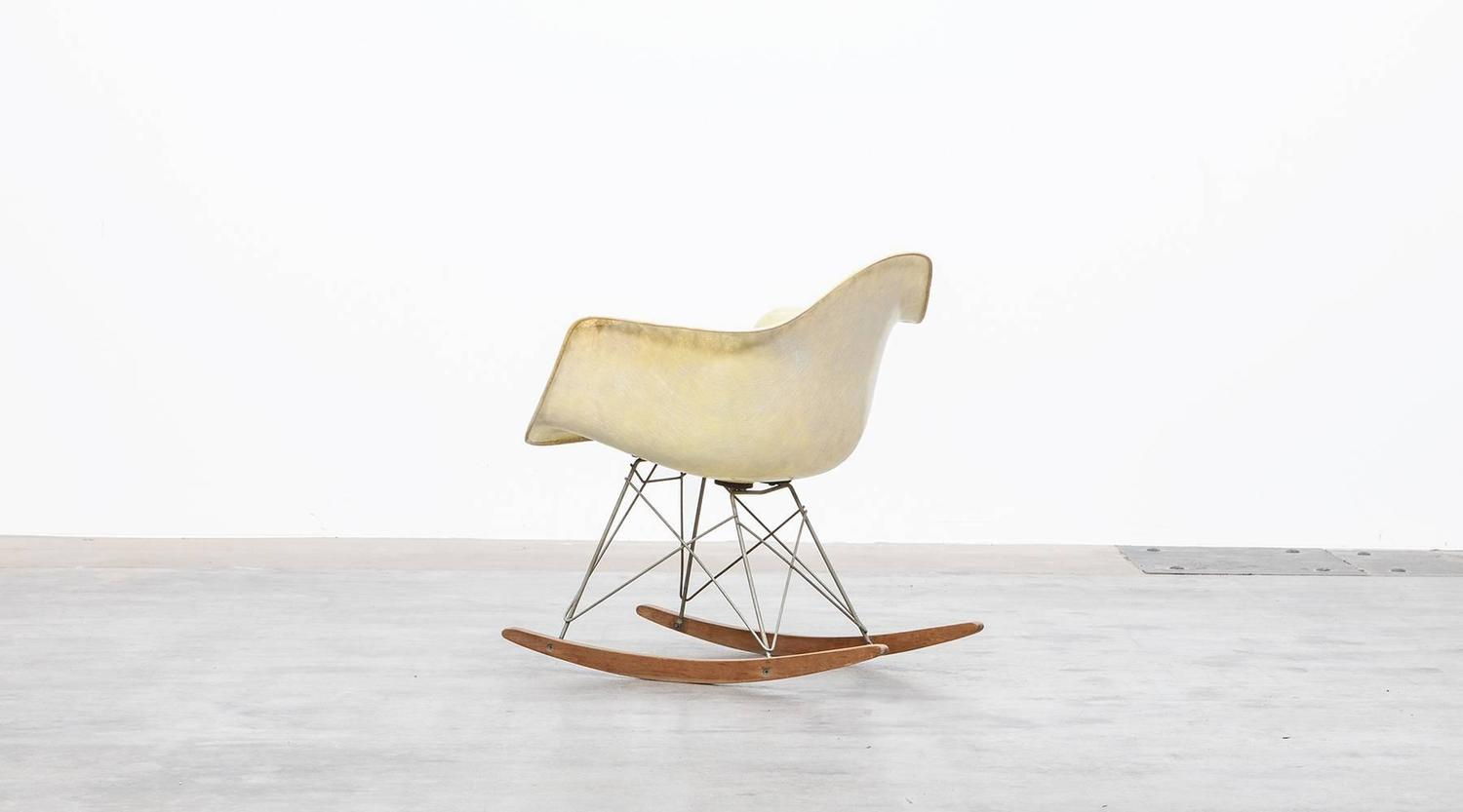metal rocking chair runners stylish charles and ray eames rar for sale at 1stdibs