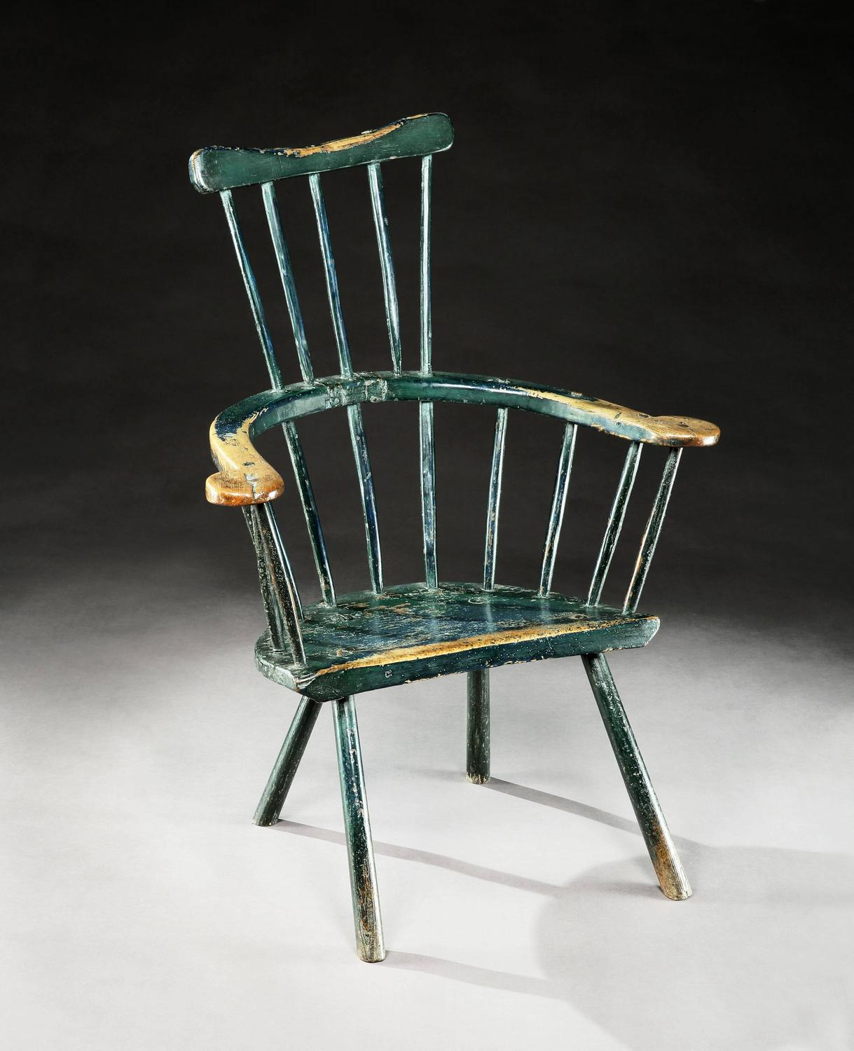 comb back windsor chair folding table and 18th century primitive at 1stdibs