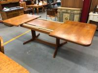 Mid-Century Modern Solid Teak Extension Dining Table at ...