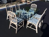 McGuire Bamboo Chinese Chippendale chairs For Sale at 1stdibs