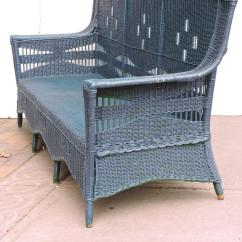 1930 Cane Back Sofa Reupholstering Leather 39s Wicker For Sale At 1stdibs