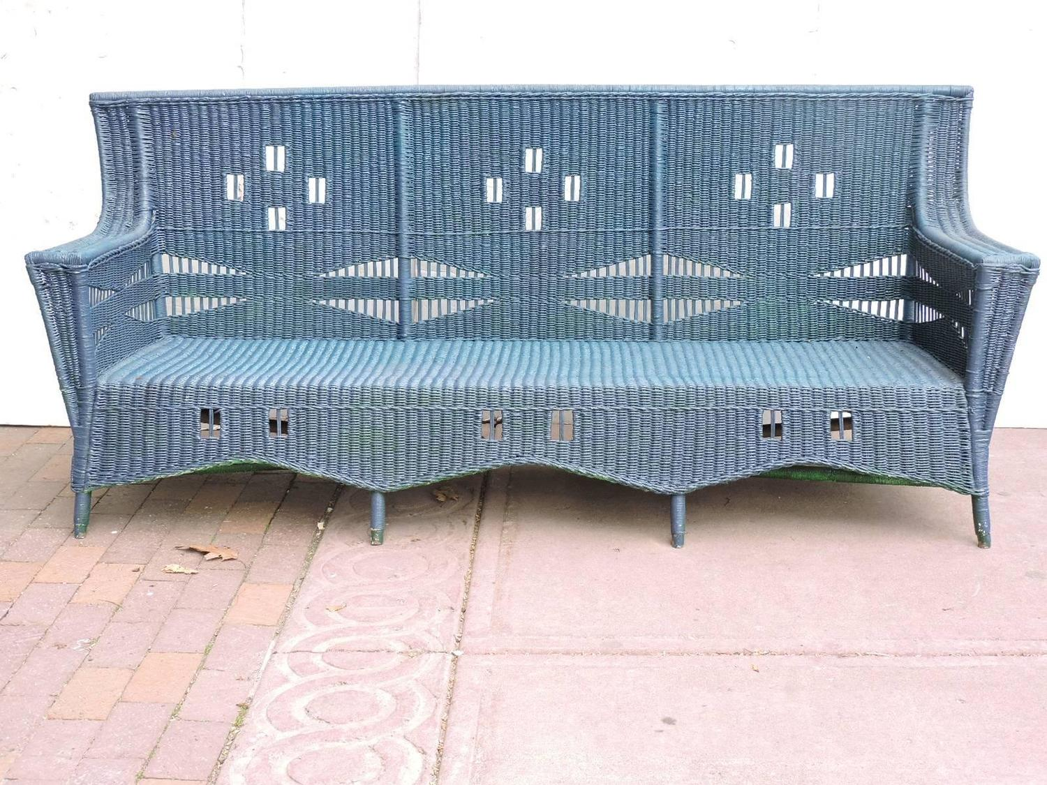 1930 cane back sofa younger furniture bed 39s wicker for sale at 1stdibs