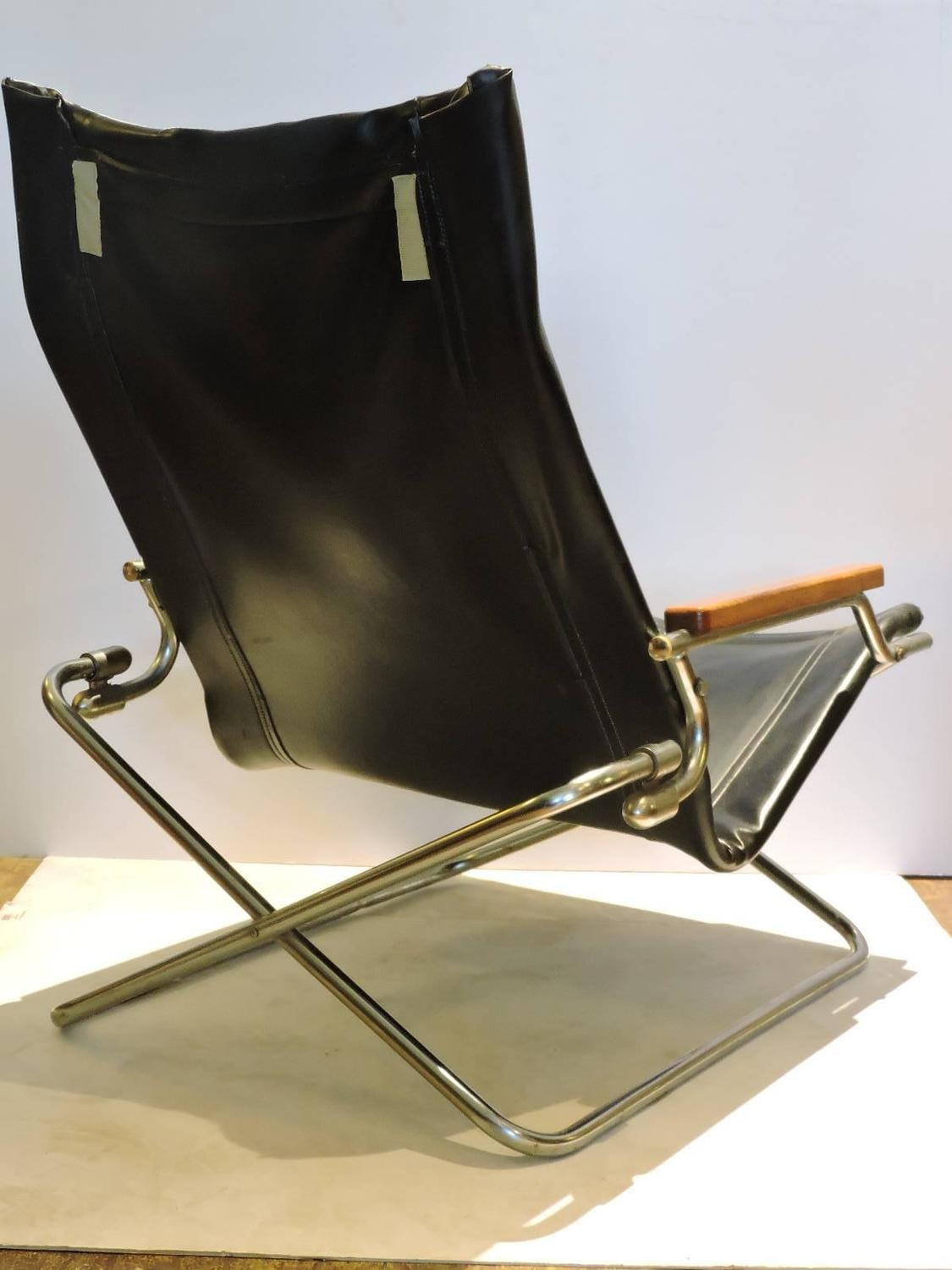 Japanese Chair Japanese Modernist Folding Sling Chair By Uchida At 1stdibs