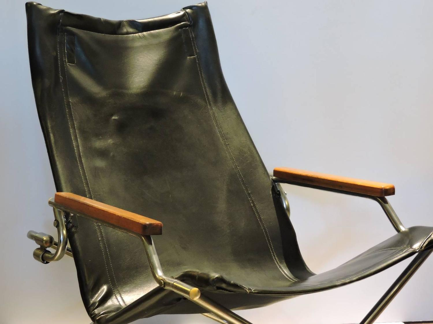 folding japanese chair pool deck lounge chairs modernist sling by uchida at 1stdibs