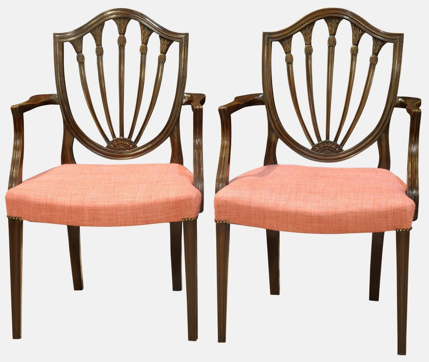 Hepplewhite Chair Pair Of Hepplewhite Style Carver Chairs At 1stdibs