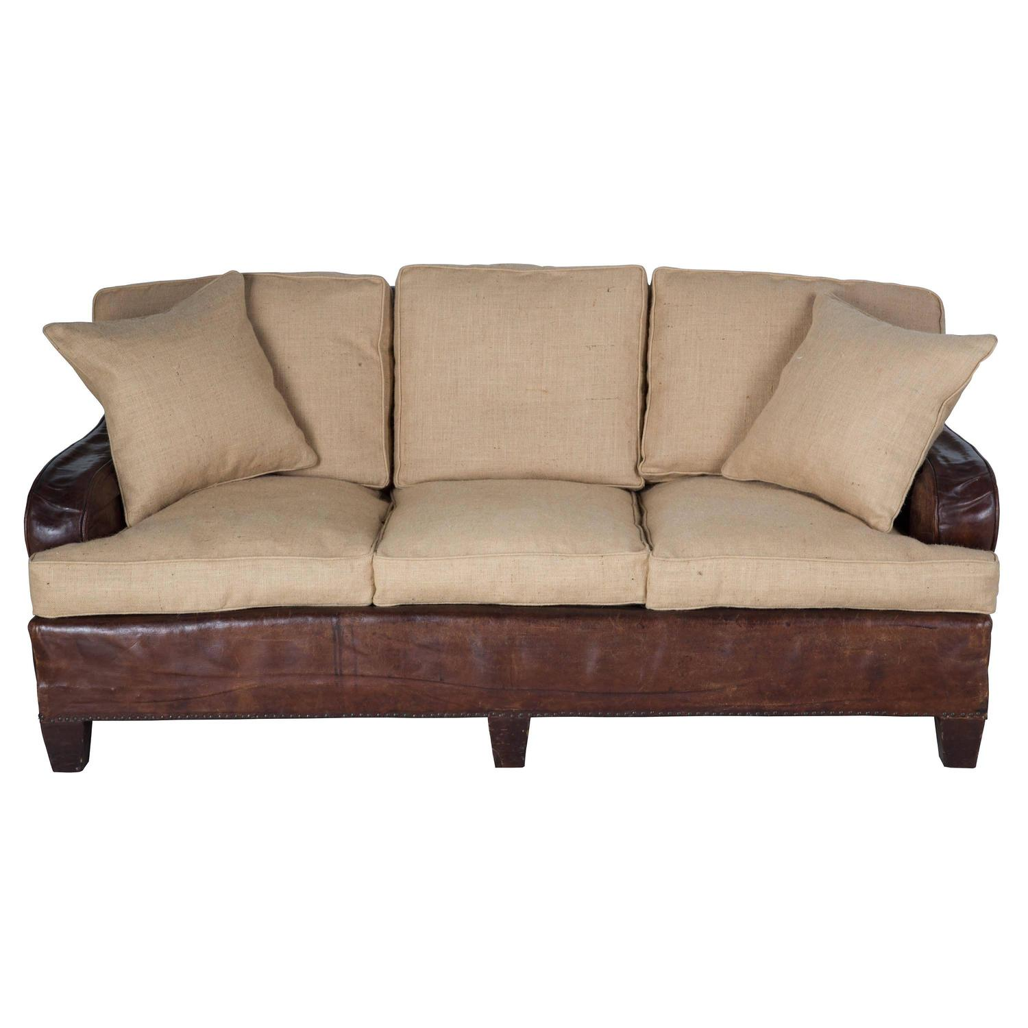 reupholster sofa in leather italia living sofas reupholstered three seat at 1stdibs