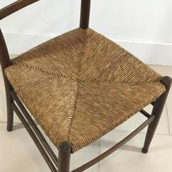 Four Chair Dining Set Menards Lawn Lounge Chairs Of Six Mid-century Wood And Woven Rush Seat Chairs, Italy, 1950s For Sale At 1stdibs