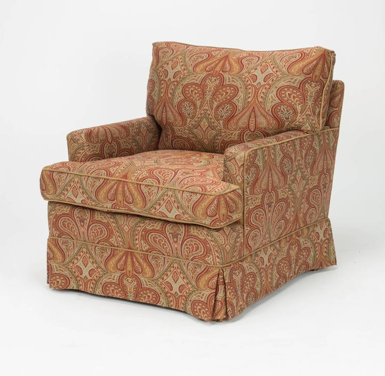 chairs and ottomans upholstered chair sofa bed ottoman in wool paisley fabric at 1stdibs very comfortable newly ralph lauren soft