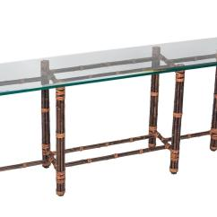 Legare Bamboo Sofa Table Karlstad 3 Seat Bed Cover Glass Top By Mcguire For Sale At 1stdibs