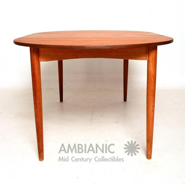 Oval Teak Dining Room Table Round