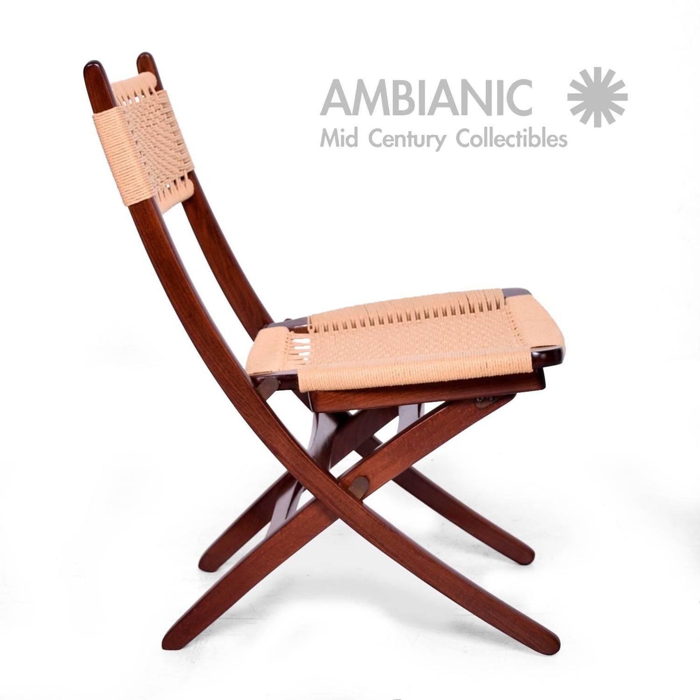 yugoslavian folding chair slipcovers for parsons dining chairs mid century danish modern rope wegner style