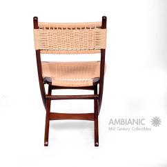 Yugoslavian Folding Chair Covers And Bows Coedcae Lane Mid Century Danish Modern Rope Chairs Wegner Style