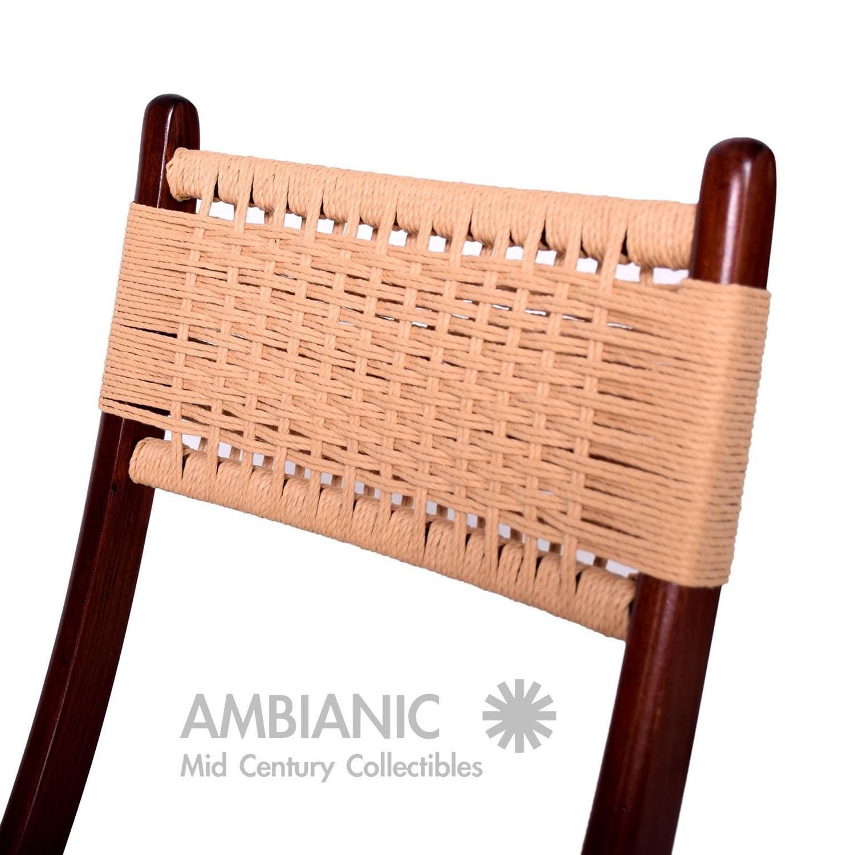 yugoslavian folding chair u shaped cushions mid century danish modern rope chairs wegner style