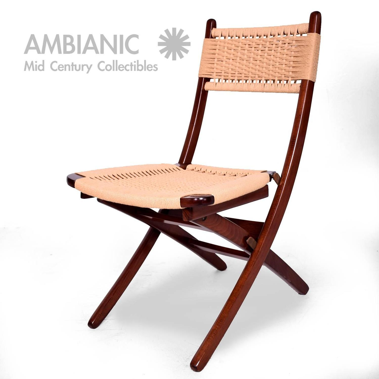yugoslavian folding chair fall covers mid century danish modern rope chairs wegner style