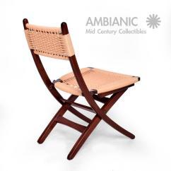Yugoslavian Folding Chair Pool Chaise Lounge Mid Century Danish Modern Rope Chairs Wegner Style