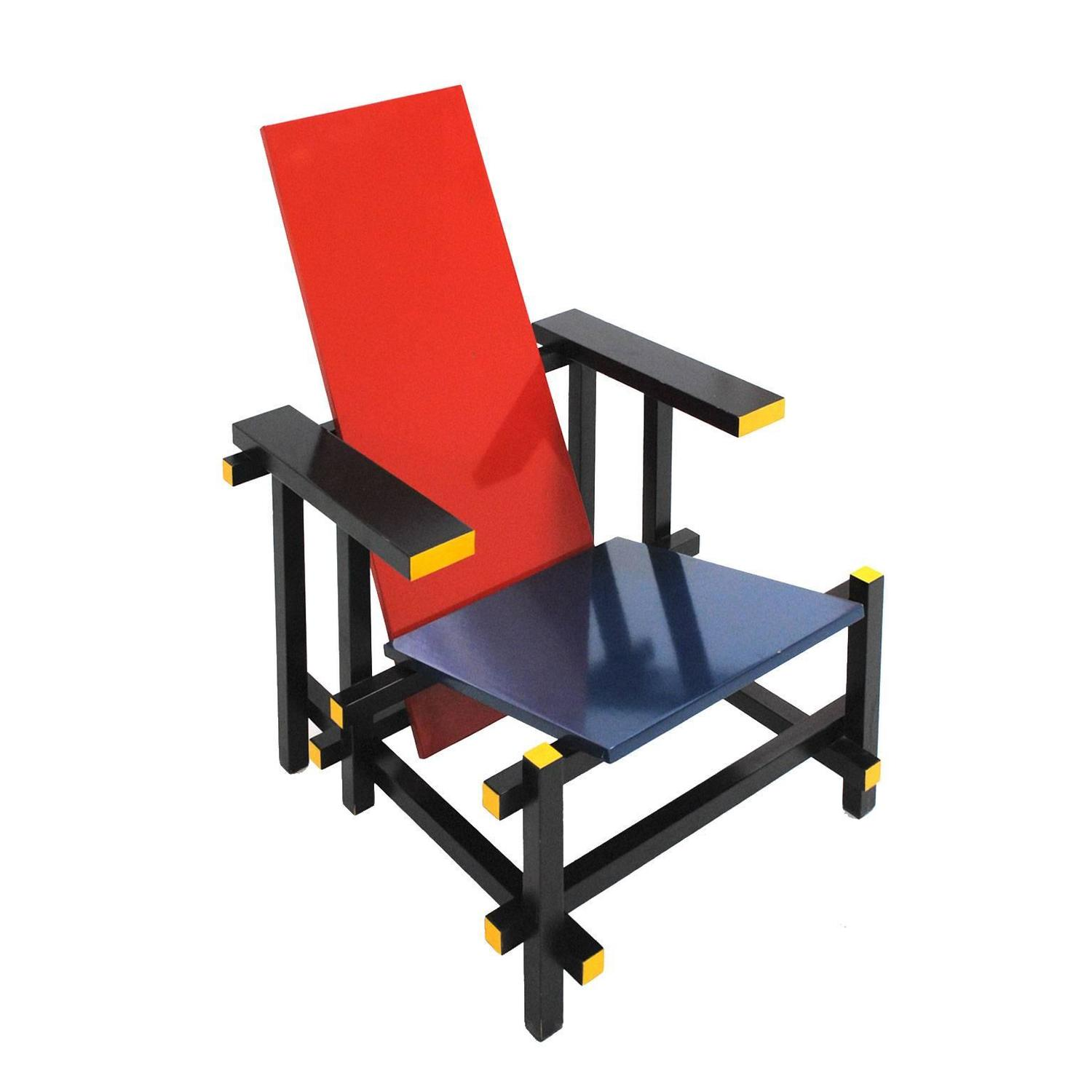 Red And Blue 365 Chair By Gerrit Thomas Rietveld For