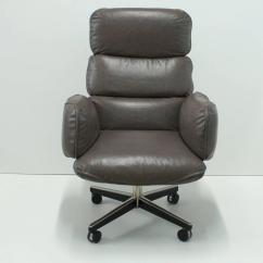 Grey Leather Desk Chair Portable Hammock With Stand Otto Zapf For Knoll International Executive