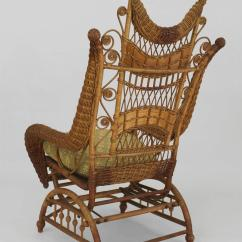Rocking Chairs For Sale Directors Chair Covers Gold Coast Ornate Wicker Platform At 1stdibs