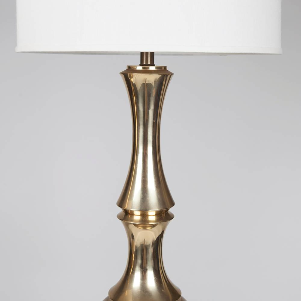 Pair of Monumental 1960s Brass Table Lamps at 1stdibs
