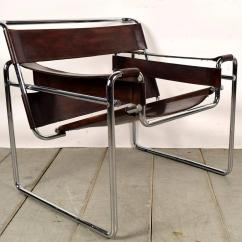 Wassily Chair Brown Leather Rocking On Sale Pair Of Vintage Lounge Chairs At 1stdibs