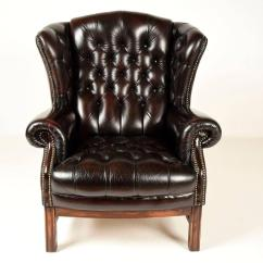 Leather Wingback Chairs Ikea Poang Sinlgle Vintage Tufted Chair At 1stdibs