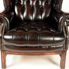 Tufted Leather Wingback Chair Wheel Rental Sinlgle Vintage At 1stdibs
