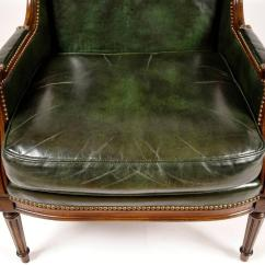 Hickory Chairs For Sale Colorful Adirondack Vintage Leather Wingback Chair At 1stdibs