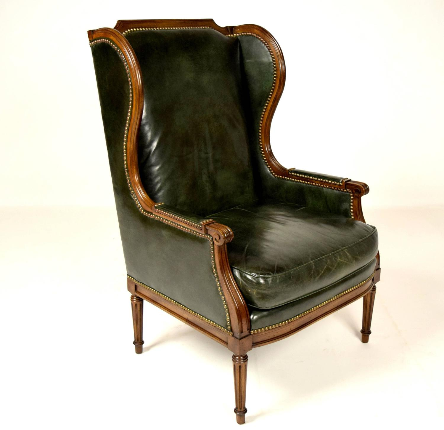 Used Wingback Chairs Vintage Hickory Leather Wingback Chair For Sale At 1stdibs