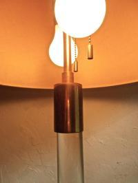 Hansen Lighting Glass Rod and Brass Floor Lamp For Sale at ...