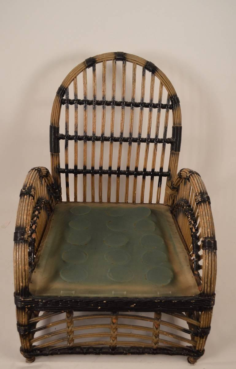 heywood wakefield wicker chairs hanging sling chair art deco lounge for sale at 1stdibs