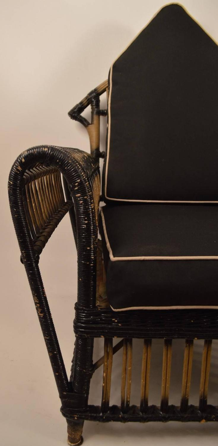 heywood wakefield wicker chairs bath chair for disabled art deco lounge sale at 1stdibs