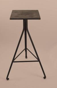 Adjustable Industrial Sculpture Stand For Sale at 1stdibs