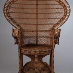 Rattan Arm Chair Vinyl Strap Repair Kit Iconic Emmanuelle Wicker Peacock At 1stdibs