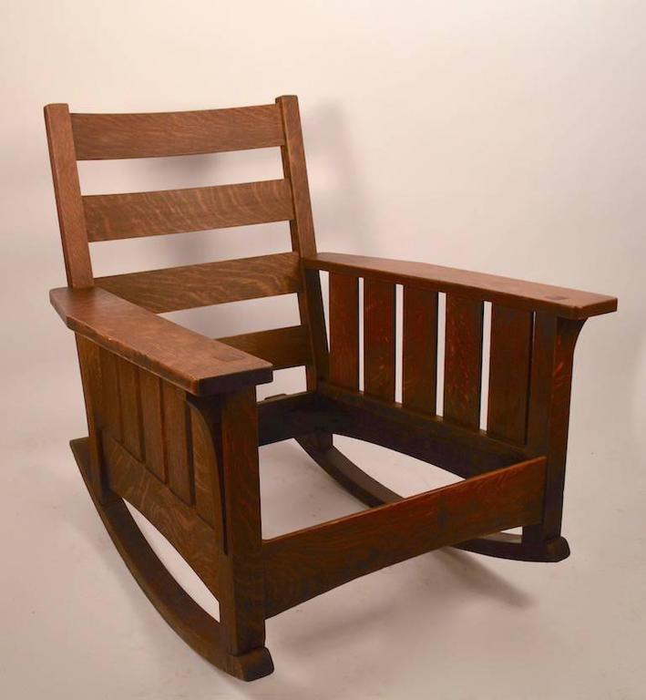 Oversize Mission Lifetime Rocking Chair at 1stdibs