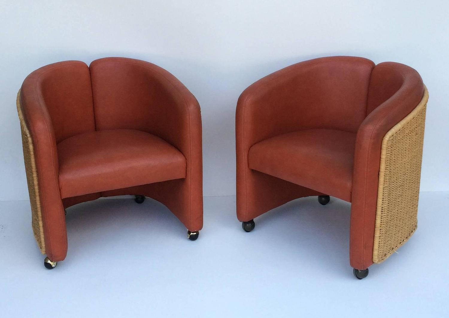 shelby williams chairs eames replica chair aldi mid century leather and wicker club by