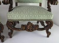 Vintage Oversized Carved Wooden Chairs Baroque For Sale at ...