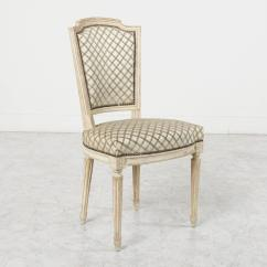French White Dining Chairs Accent Chair Sale Louis Xvi Style Antiqued Or Side
