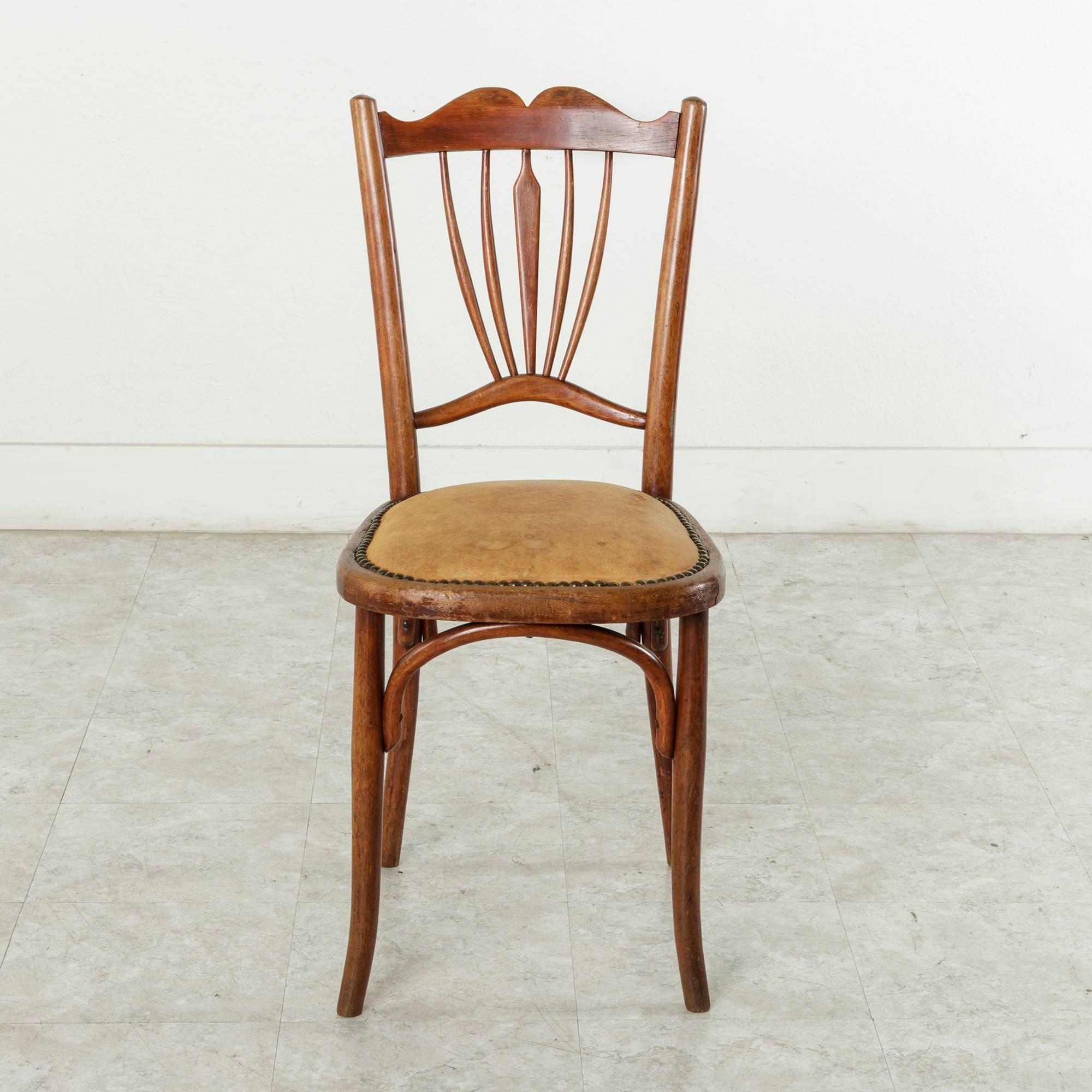 bentwood bistro chairs for sale metal office chair pair of early 20th century french art deco period thonet at 1stdibs