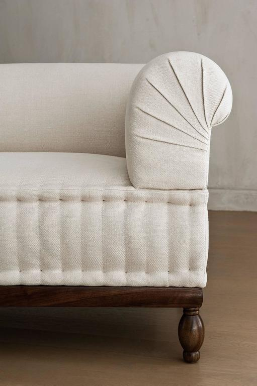 belgian linen sofa buy recliner contemporary brampton pleated, custom and made to ...