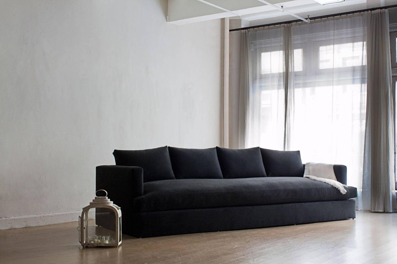standard sofa cushion size low cost set contemporary chelsea square deep sofa, custom and made to ...