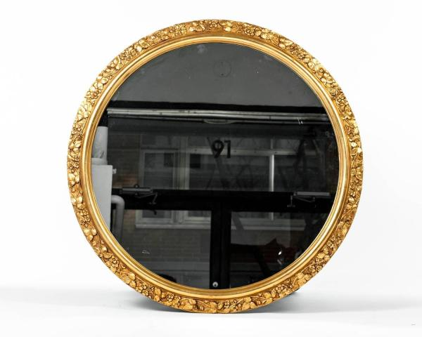 Round Wood Mirror Frame