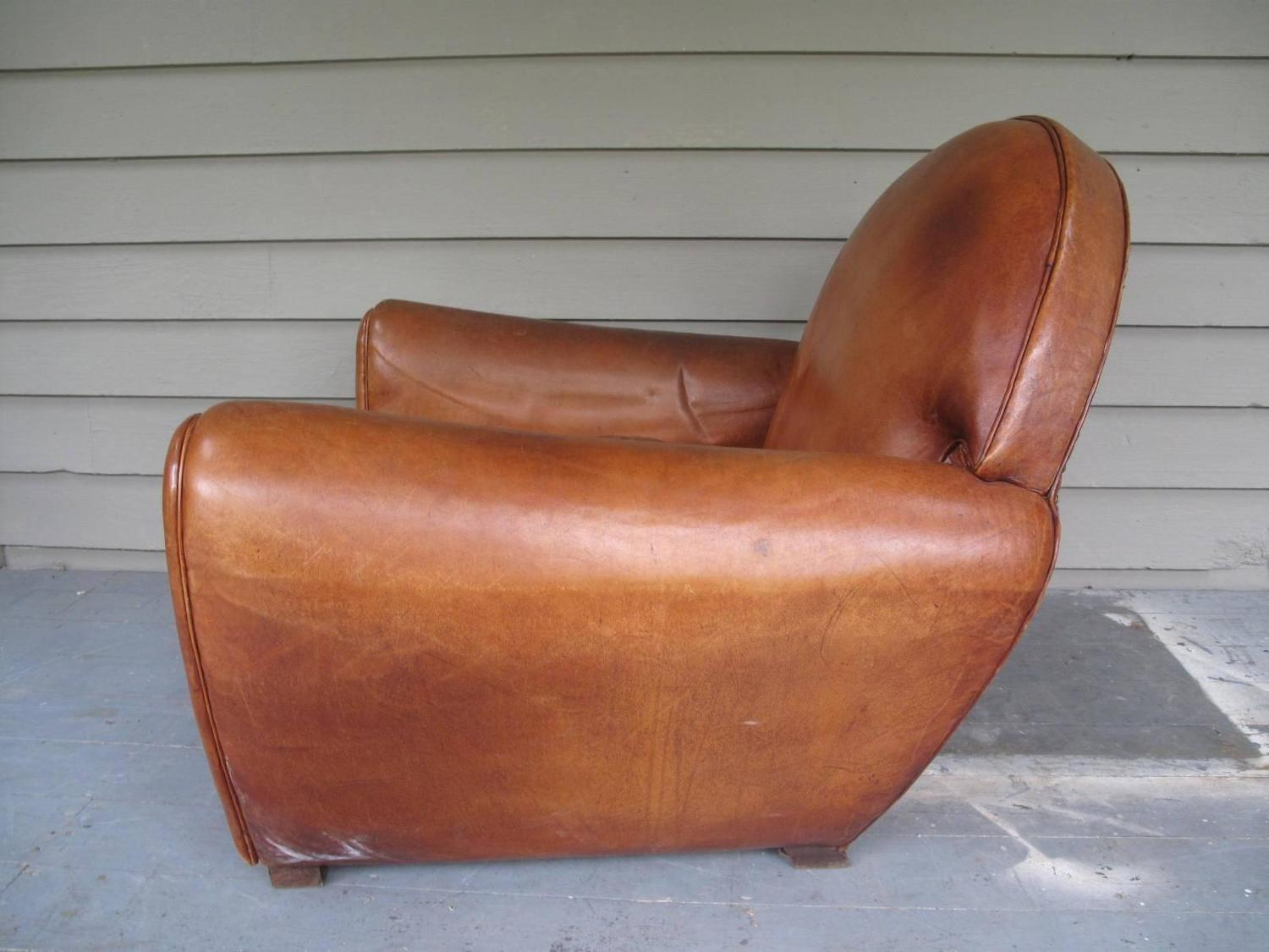 art deco club chairs leather lounge at target monumental chair 1stdibs