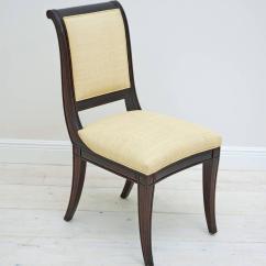British Colonial Chair Burlap Cushions Set Of 12 Mahogany Dining Chairs