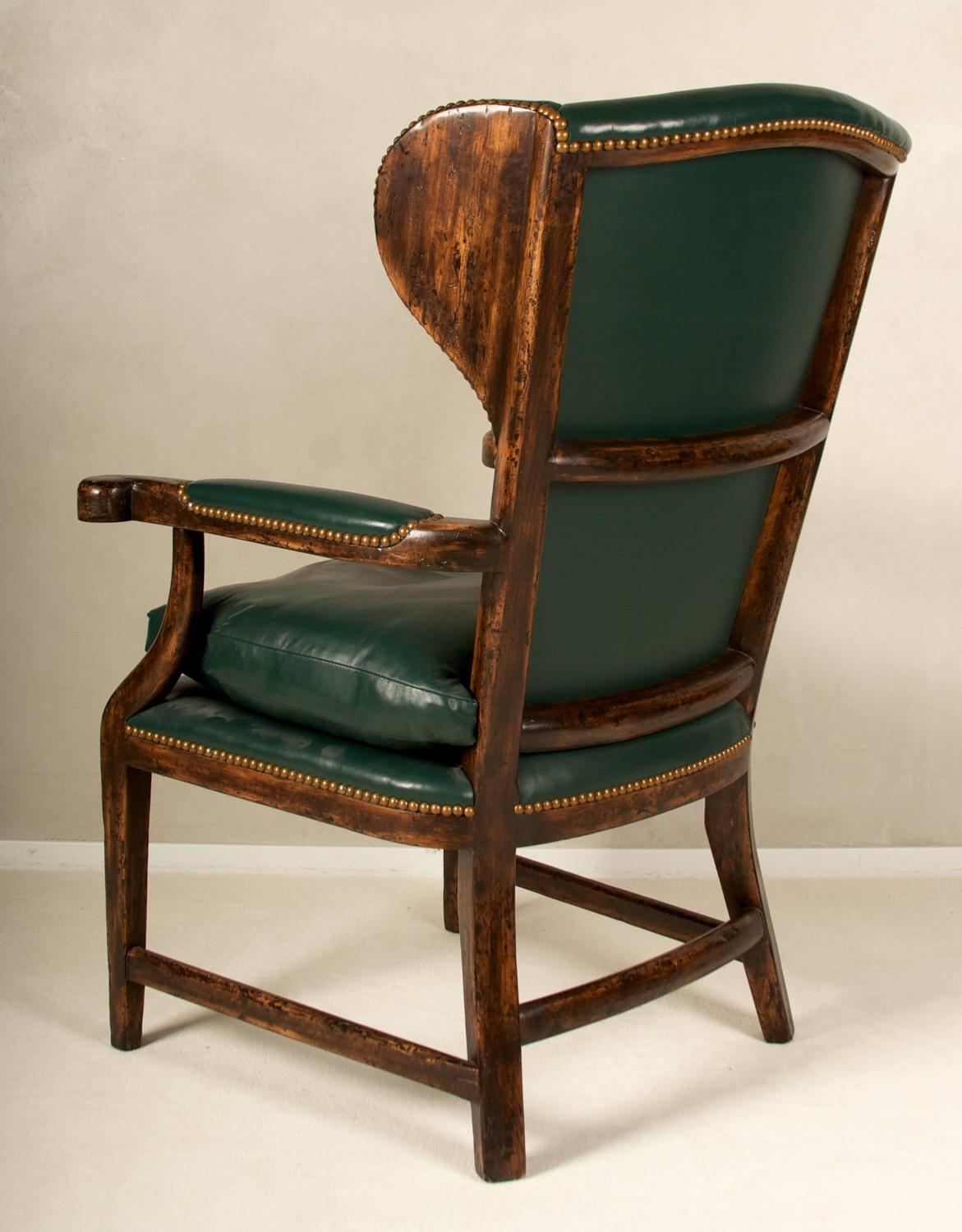country style wingback chairs beach chair with footrest and canopy 20th century english house for sale
